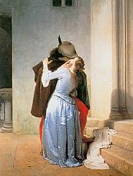 Поцелуй  -  The kiss, Francesco Hayez, 1859-1867.    -  второй вариант картины
