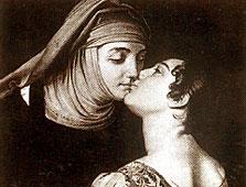 Kiss between Juliet and her nurse. Francesco Hayez , 1823, Milan, Private Collection
