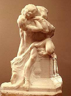 Ромео и Джульетта  -  Romeo et Juliette, Auguste Rodin. marble.1905. The Hermitage, St.Petersburg  -  скульптура Родена Ромео и Джульетта