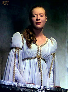 Платье Джульетты в сцене на балконе. Фильм Кастеллани. 1954  -  Juliet's dress in the balcony scene. Castellani