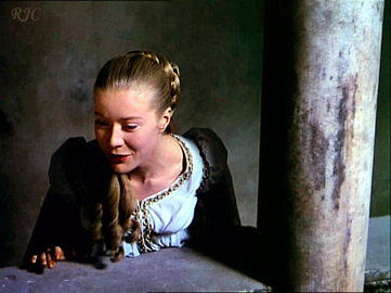 Сьюзен Шентол в роли Джульетты. Фильм Кастеллани, 1954  -  Susan Shentall as Juliet in Castellanis's film