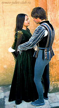 костюмы Ромео и Джульетты в фильме Дзеффирелли. 1968  -  costumes of Romeo and Juliet in Zeffirelli's film