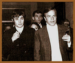 Franco Zeffirelli, Leonard and Olivia at the premiere of the film in Verona