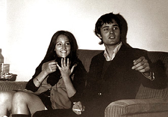 Olivia Hussey and Leonard Whiting in Verona, 1968