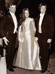 Zeffirelli, Olivia and Leonard at the royal premiere in London, 1968