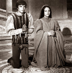 wedding scene in Zeffirelli's film Romeo and Juliet