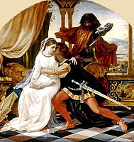 ����� � ���������. �������. ��. �. �����. 1860s  -  Paolo and Francesca. detail. Joseph Noel Paton