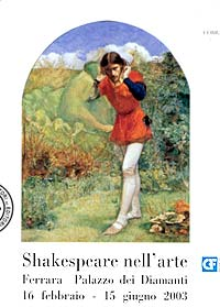 entrance ticket for the Shakespearian exhibition in Ferrara