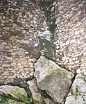 Artena. Romano imitates Romeo climbing up the wall from the stones