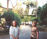 Cinzia and Olga before Villa of Zeffirelli in Rome