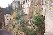 Artena. The view of the garden and the long brick steps where the scene of Juliet and her nurse was shot
