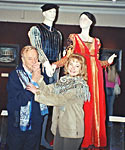 with Franco Zeffirelli at the exhibition in Moscow, 2004