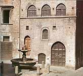 Gubbio. The Fool's Fountain - the place of citizens' fight  in the film