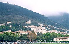 Gubbio, the view of  Mont Ingino