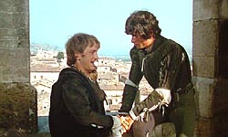 Morning after the ball. Mercutio and Benvolio are in the place in reality called la Logia dei Tiratori . Gubbio