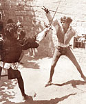 The fight between Romeo and Tybalt in the film