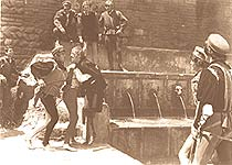 Mercutio's fountain in the film