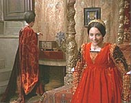 The film room of  Lady Capulet was shot in the former bedroom of Pio II