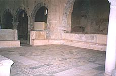 San PIetro.  Mosaic floor  before the altar -  wedding place in the film
