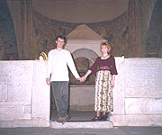 before the altar inf San Pietro. Olga and Vladimir