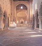 Inside the church of San Pietro. Tuscania