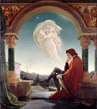 Сон Данте. Джозеф Патон. 1852  -  Dante's Dream by Joseph Noel Paton