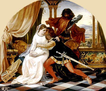Паоло и Франческа. Джозеф Патон. 1860s  -  Paolo and Francesca. Joseph Noel Paton