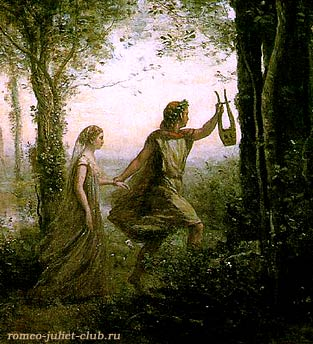 1861 - Orpheus leading Eurydice from Hades (detail) .