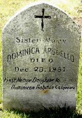 ��������� ������� � �������  -  The tombstone of Conchita in Benicia , USA