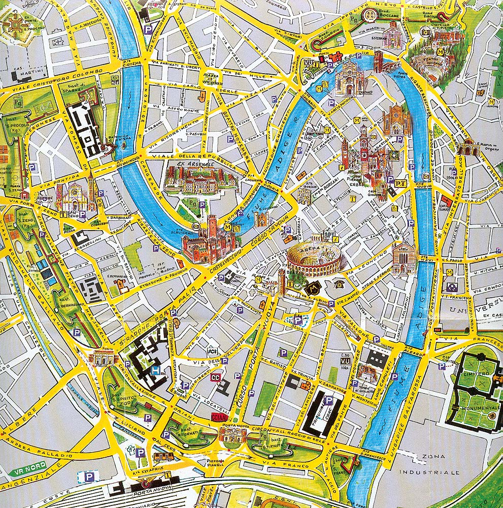 verona tourism map - photo#34
